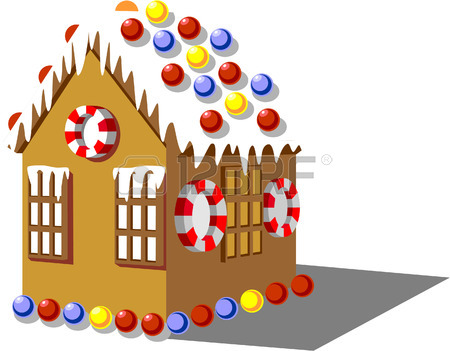 450x351 Gingerbread House Color 01 Royalty Free Cliparts, Vectors,