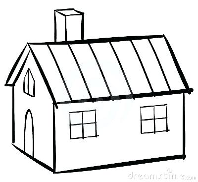 400x367 House Clipart Memocards.co