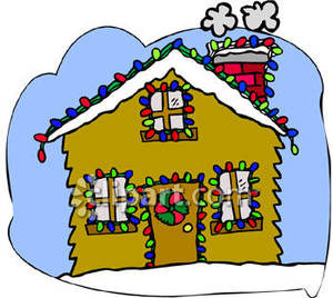 300x268 Christmas House Decorations Clip Art Happy Holidays!