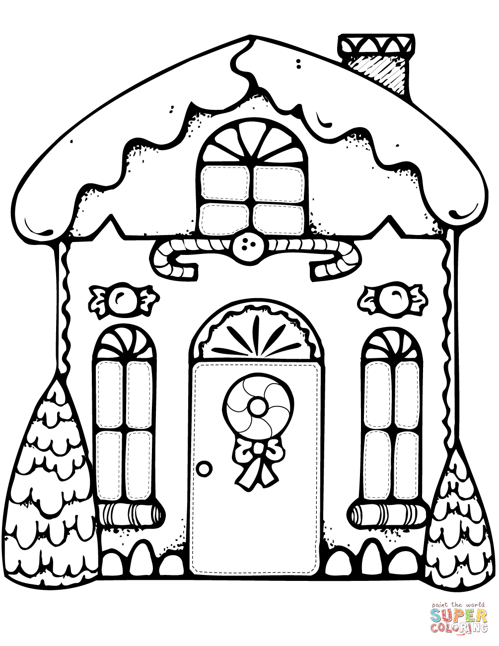 1005x1300 modern ideas gingerbread house coloring page xmas free printable