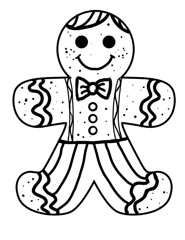 612x792 Cartoon Gingerbread Man House Coloring Pages Gingerbread Man