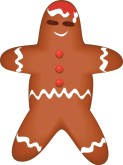 123x165 Gingerbread Clipart, Gingerbread Man Clipart, Gingerbread House
