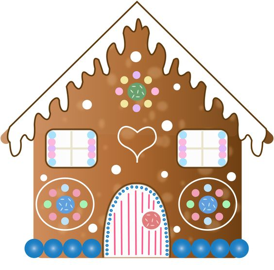 564x555 Gingerbread House Clipart