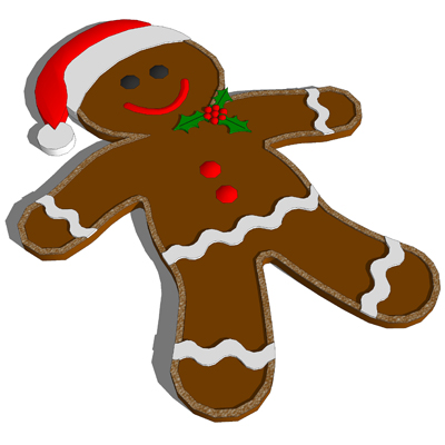 400x400 Gingerbread Man 3d Model