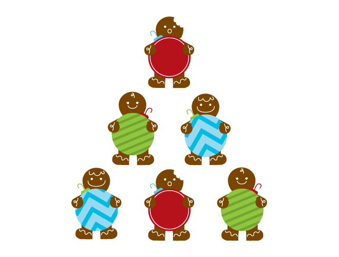 660x500 Gingerbread Men Wall Decal Weedecor