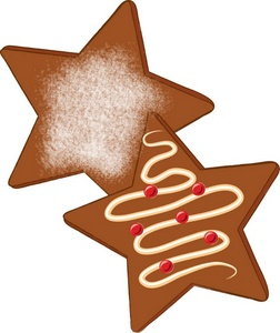 252x300 Gingerbread Clipart Star
