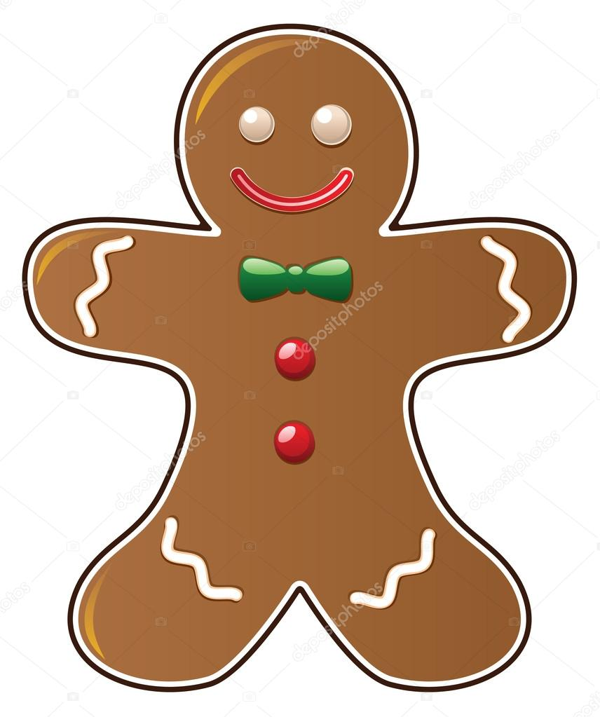 856x1023 Gingerbread Cookie Stock Vector Dmstudio