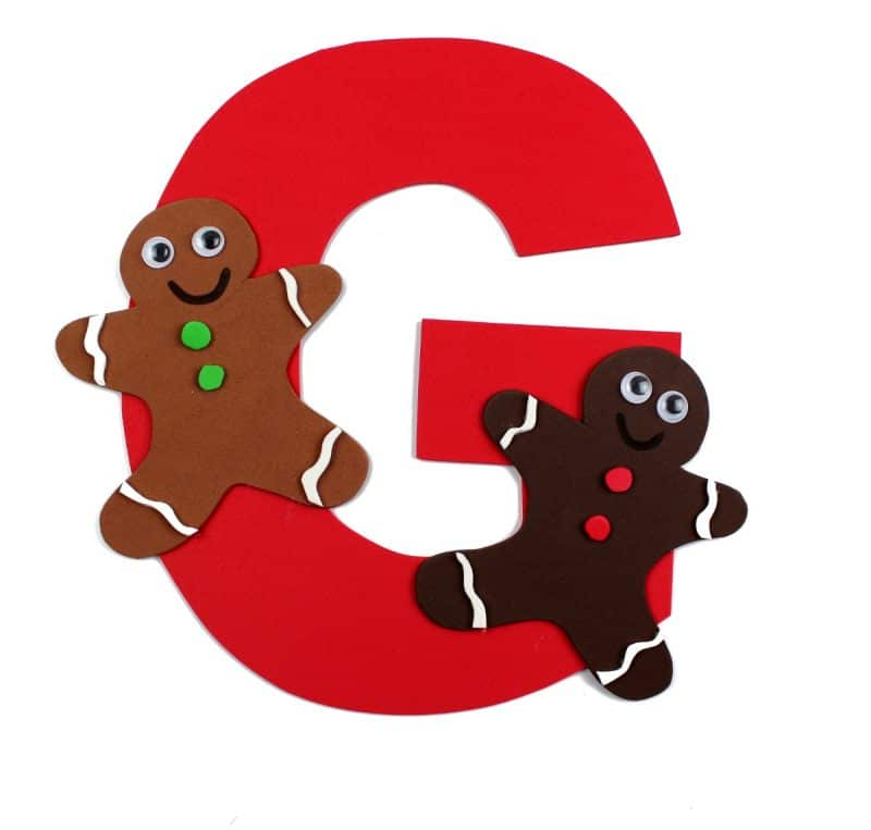 800x763 Letter G Craft With Printable G Is For Gingerbread