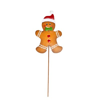 400x400 Product Works Gingerbread Totem Poles Lighted Christmas Decoration
