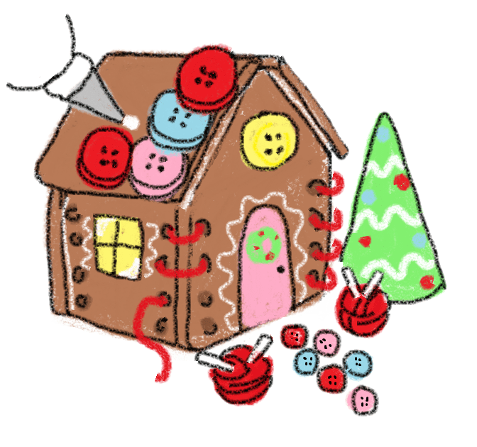 672x630 Sewing Cottage Gingerbread House