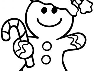 320x240 Gingerbread Man Coloring Pages Printable Printable Gingerbread Man