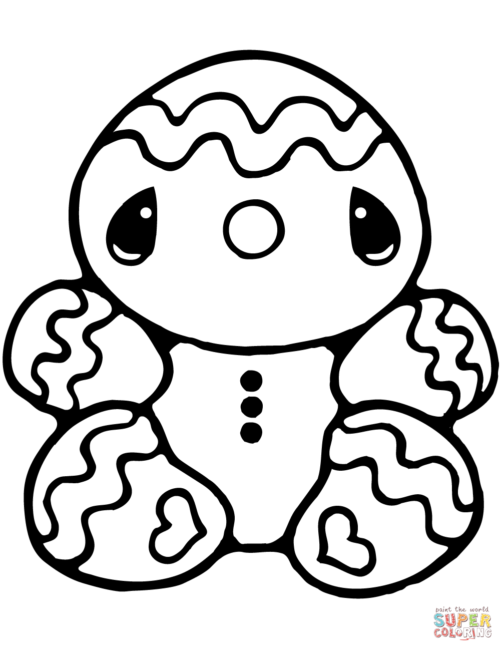 Gingerbread Man Black And White | Free download on ClipArtMag