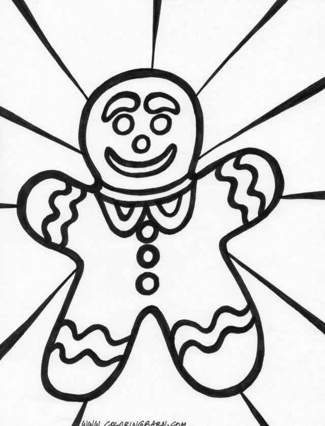 640x837 Gingerbread Man Color Sheet