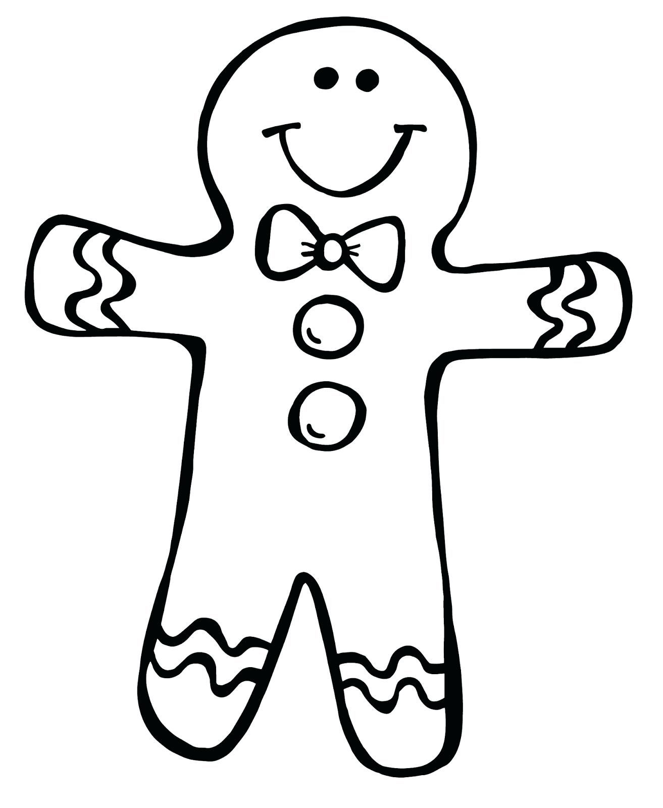 1313x1600 Gingerbread Man Coloring Page
