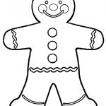 150x150 Gingerbread Man Coloring Page