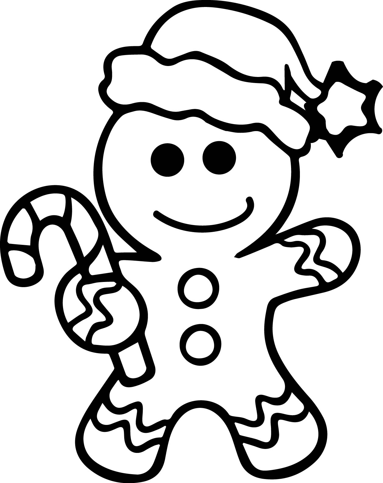 1258x1588 Gingerbread Man Coloring Page Wecoloringpage