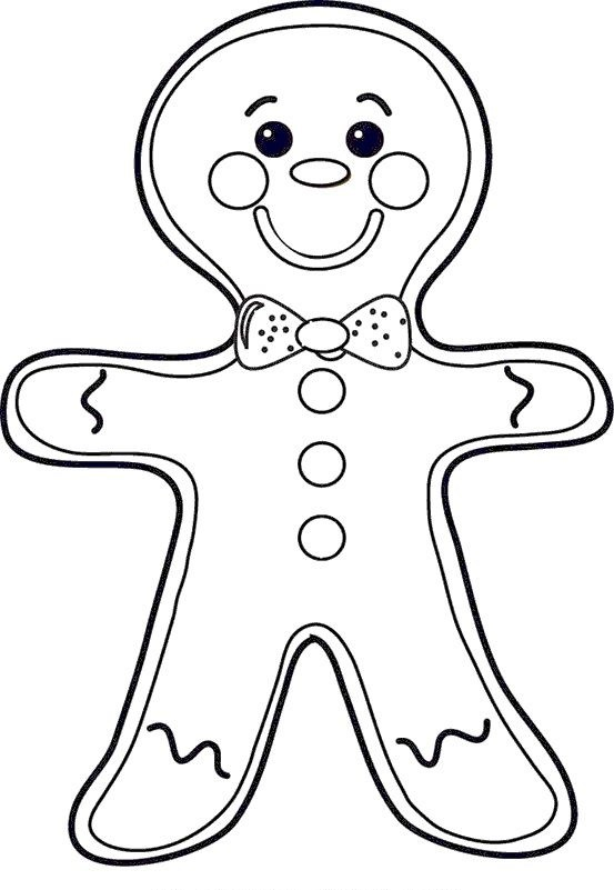 553x801 Gingerbread Man Coloring Pages To Get Kids In Spirit Of Christmas