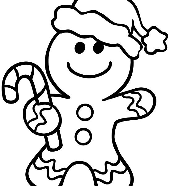 550x600 Gingerbread Man Coloring Pages Printable Printable Gingerbread Man