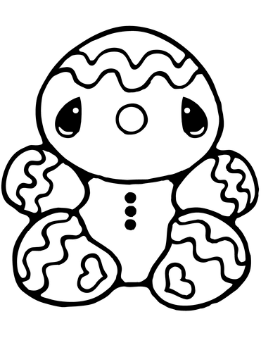 371x480 Tiny Gingerbread Man Coloring Page Free Printable Coloring Pages