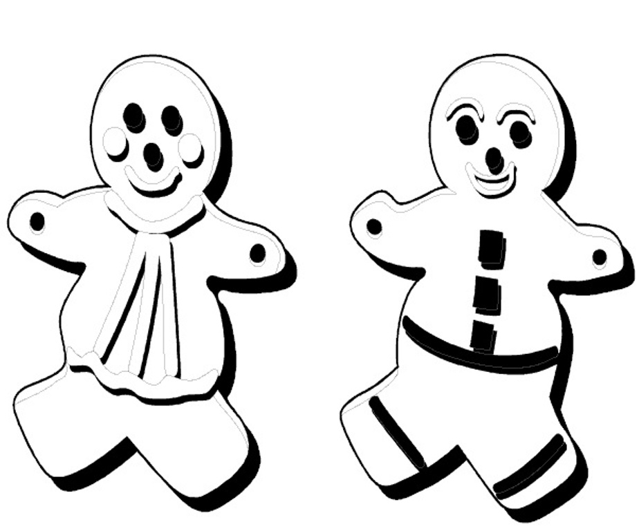 924x768 Twin Gingerbread Man Coloring Pages Fitfru Style Printable