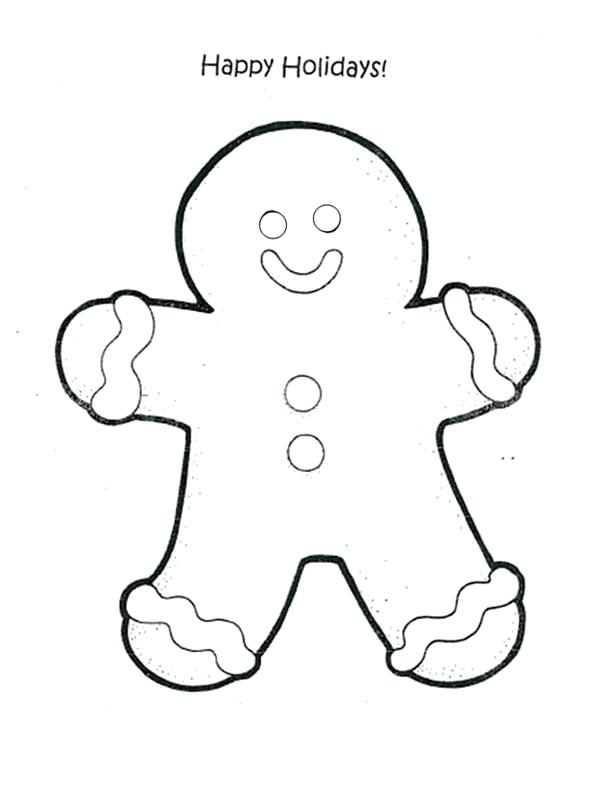 600x787 Gingerbread Man Coloring Pages Thaypiniphone