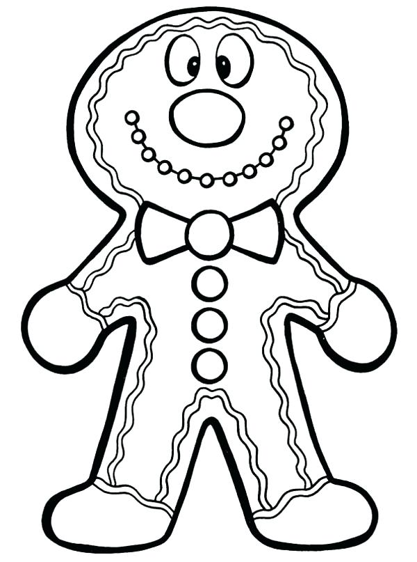 600x807 Gingerbread Man Pictures To Print