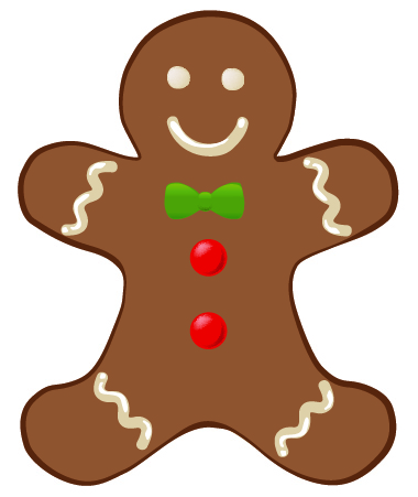 380x451 Gingerbread Man Clip Art