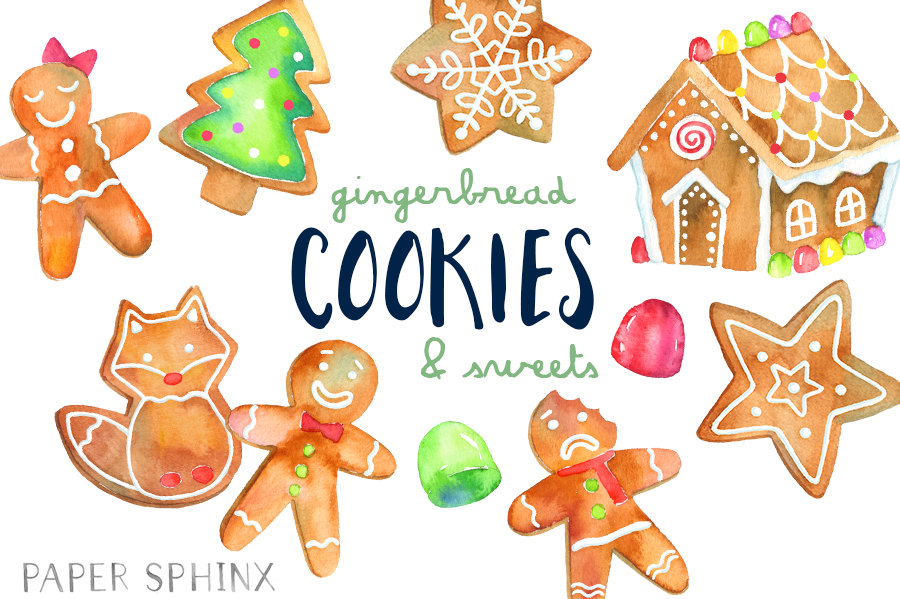 900x599 Christmas Cookies Clipart Gingerbread Man Clip Art Holiday