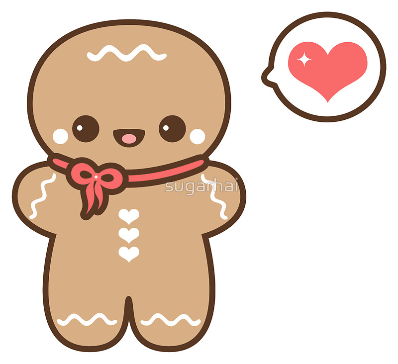 800x732 Cute Gingerbread Man Stickers By Sugarhai Redbubble