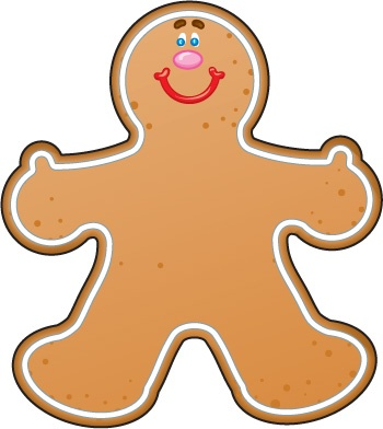350x392 Gingerbread Man Clipart 5