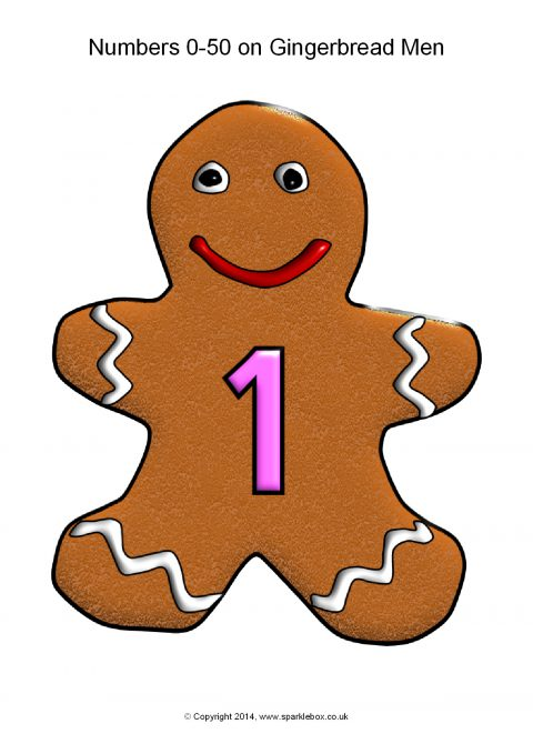 480x679 Numbers 0 50 On Gingerbread Men (Sb1200)