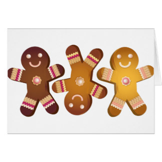 324x324 Gingerbread Men Greeting Cards Zazzle