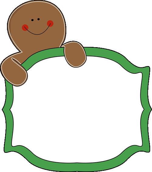 500x565 Gingerbread Clipart Border