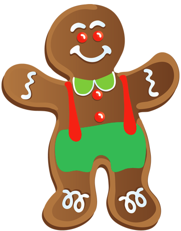 360x459 Biscuit Clipart Gingerbread Man