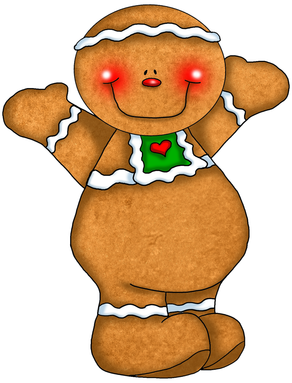 975x1280 Free Lang Santa And Gingerbread Man Clipart Clipartfox