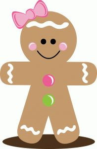 196x300 219 Best Gingerbread Clip Images Wish You Merry