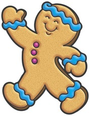 178x230 Gingerbread Man Blue Clipart Panda