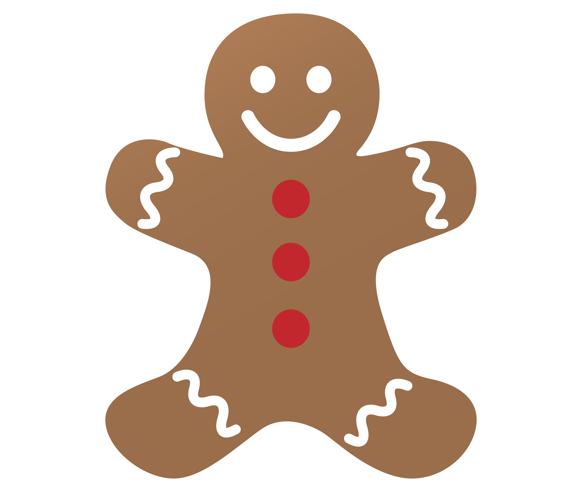1920x1625 Gingerbread Man Clipart Free Stock Photo