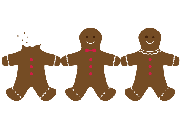 600x400 Gingerbread Clipart Holiday Cookie