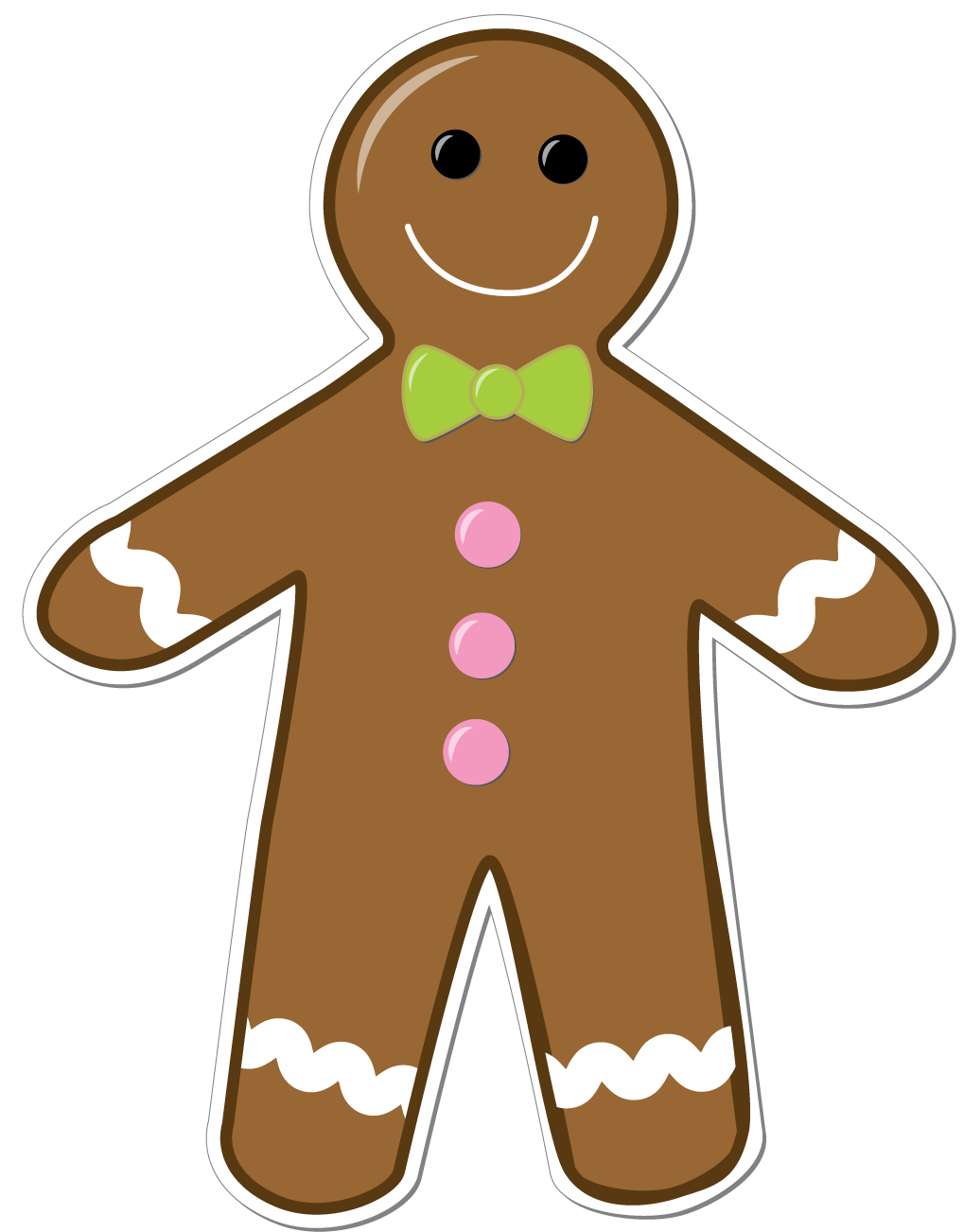 1019x1302 Gingerbread Man Clip Art