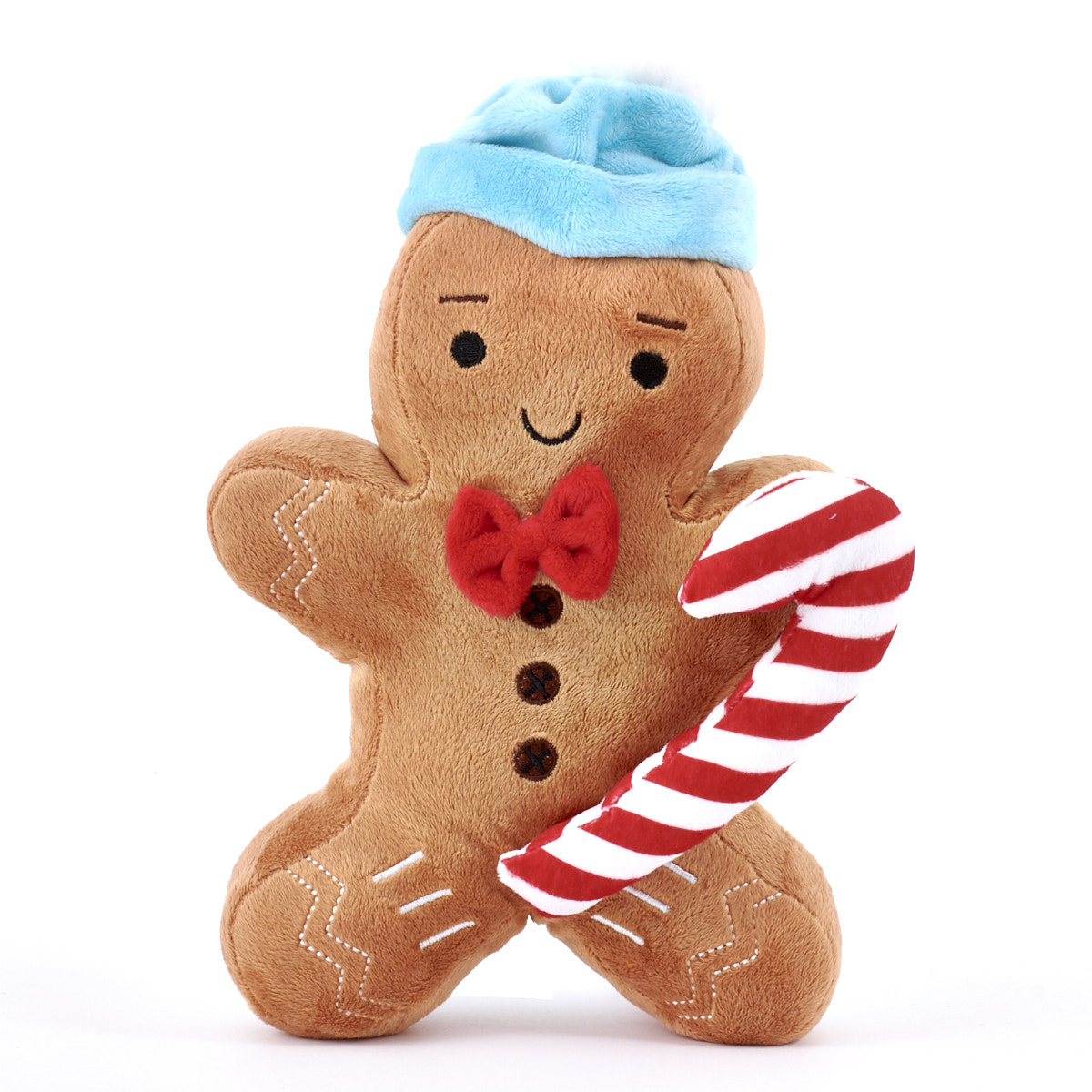 1200x1200 Gingerbread Man Soft Toy Blue Hat Card Factory