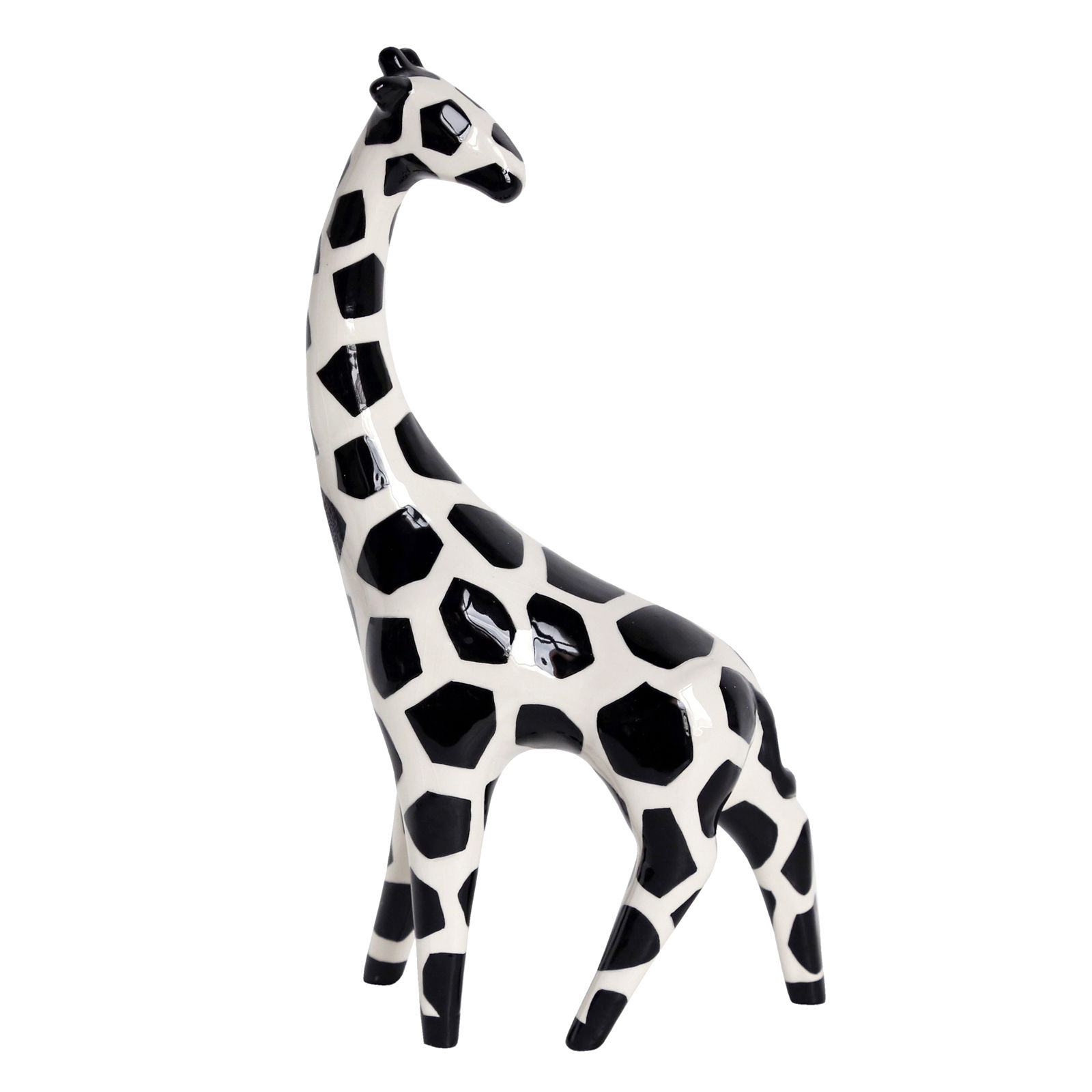 1600x1600 Ceramic Black And White Giraffe 11.5 In.