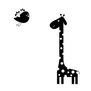 300x300 Concept Of A Giraffe Animal Cartoon. Funny Cute Giraffe Isolated