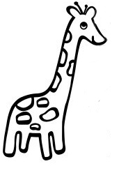 171x248 Cute Giraffe Clipart Black And White Holding A Heart
