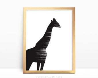 340x270 Black White Giraffe Etsy