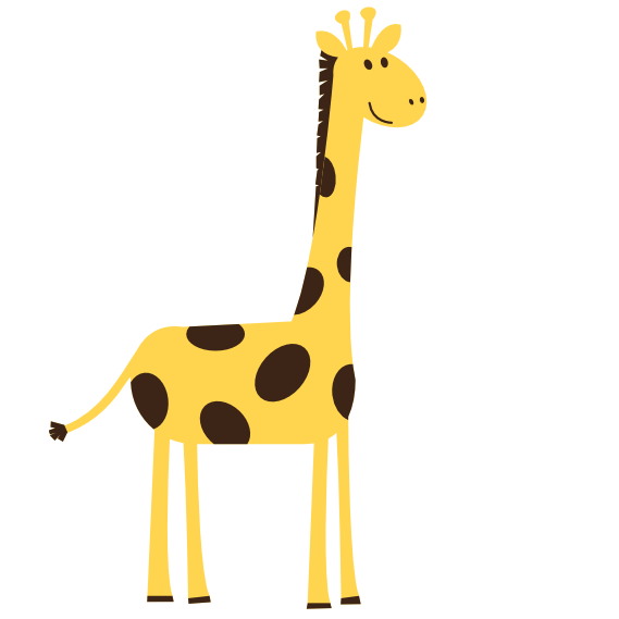 569x569 Clip Art Images Aniamals Colorful Animal Giraffe Scalable Vector