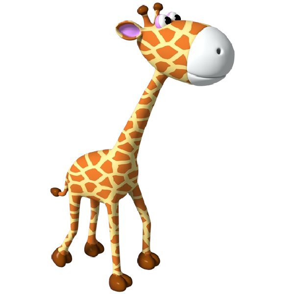 600x600 Simple Giraffe Outline Cute Giraffe Clipart Applique Image