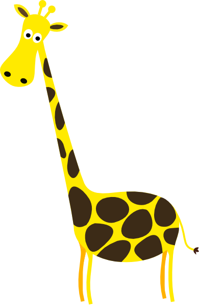 390x598 Giraffe Clipart Black And White Free Images