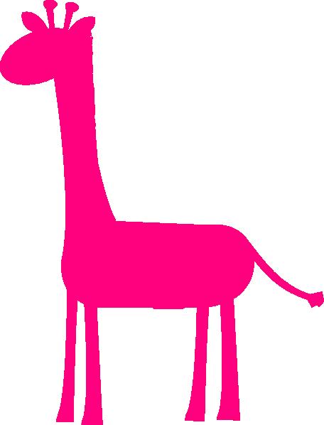 456x598 Pink Girl Giraffes Clip Art