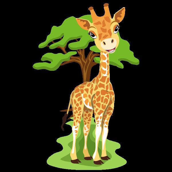 600x600 Giraffe Clip Art